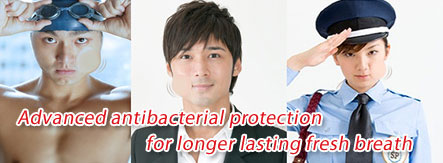 Advanced antibacterial protection for longer lasting fresh breath