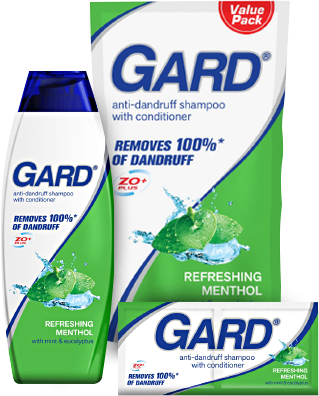 Gard Anti-Dandruff Shampoo with Conditioner - Refreshing Menthol